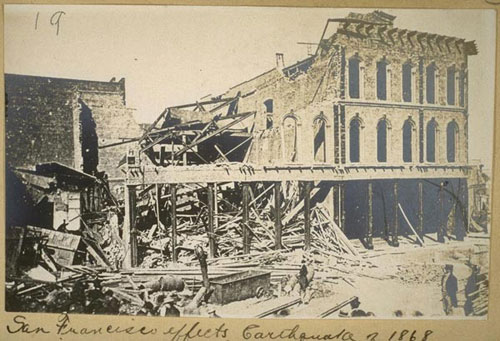 Image depicting earthquake damage/aftermath